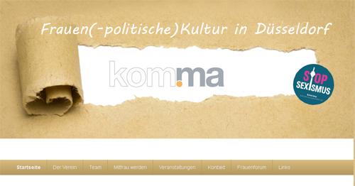 komma-Webseite