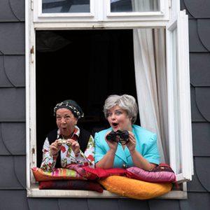 """Die Trockenblumen """"Fensterkissen zum Hof"""" @ Bürgerhaus Bilk"""