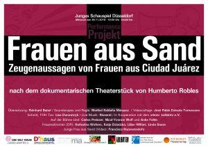 Frauen aus Sand – Zeugenaussagen von Frauen aus Ciudad Juárez @ Junges Schauspiel - Foyer